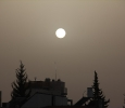 The sun during the sand storm