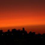 שעות הדמדומים מגג ביתנו - יוני 2011