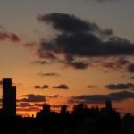 שקיעה מעוננת מעט - 4/7/2012
