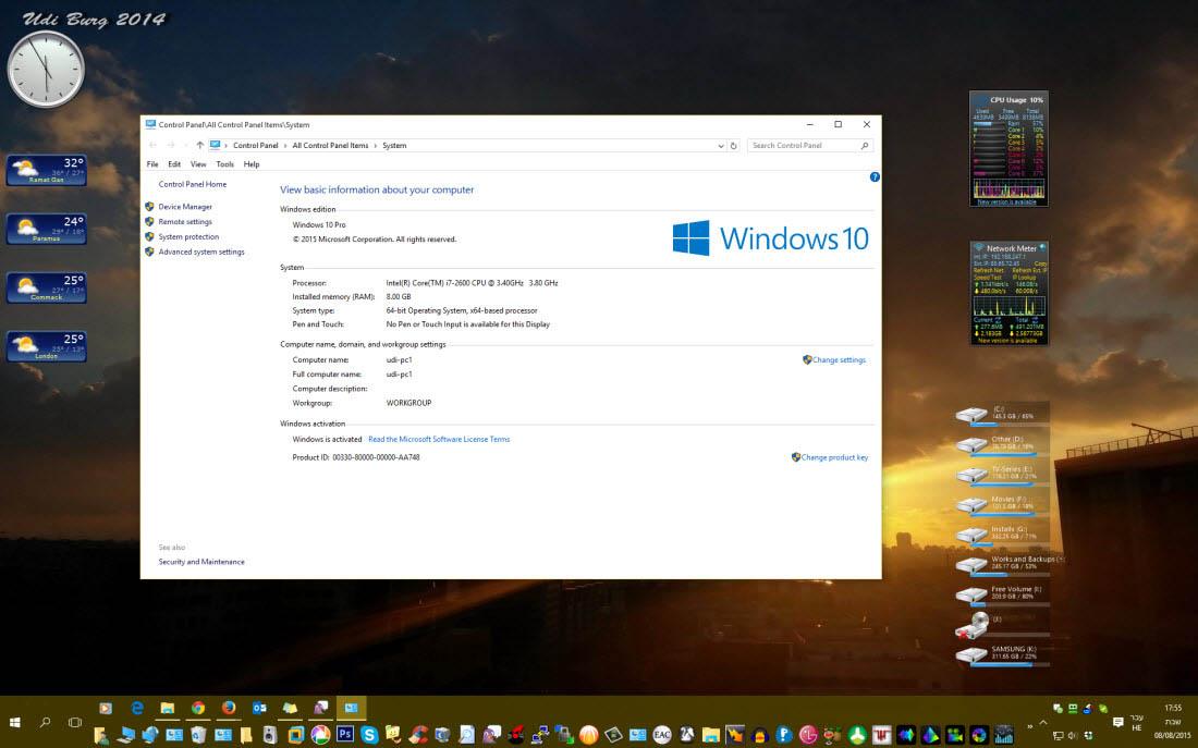 Windows 10 מותקן